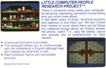 Little Computer People Activision Catalogue